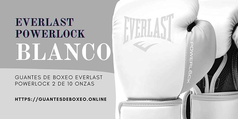Everlast POWERLOCK 2 - Guantes de Entrenamiento (280 g), Color Blanco