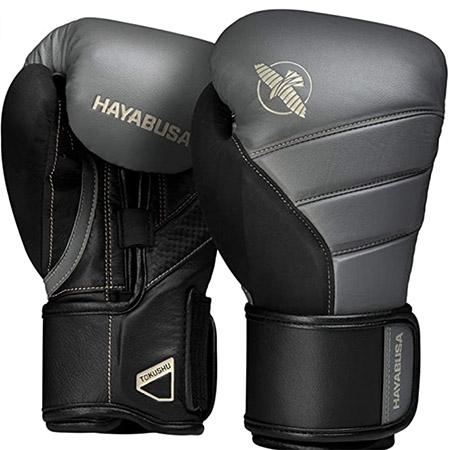 guante box T3 gris y negro hayabusa