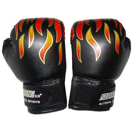 Isuper 1 Par Guantes de Boxeo niños Llama Imprimir Guantes de Kickboxing