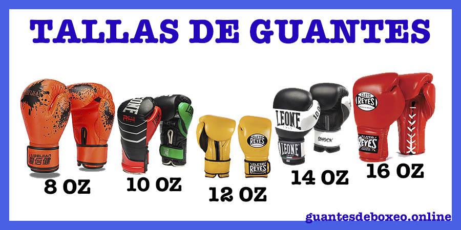 Tallas de guantes de box