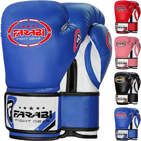 guantes de boxeo farbi para niños de 8oz