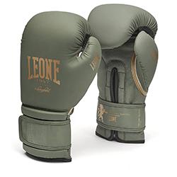 LEONE 1947 Guantes de boxeo edición militar de cuero MMA UFC Muay Thai Kick Boxing K1 Karate Training Sparring Punching Guantes