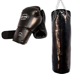 Super oferta guantes de boxeo y saco de boxeo de cadena