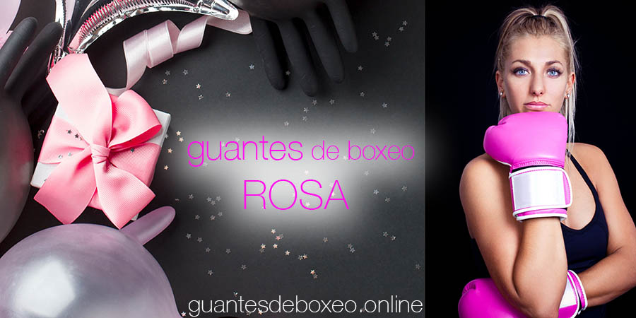 guantes de boxeo rosas