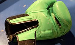 guantes de boxeo verde